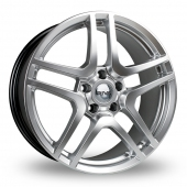 Image for Riva HMC Hyper_Silver Alloy Wheels