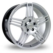 Image for Riva MAG_5x112_Wider_Rear Hyper_Silver Alloy Wheels