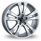 Wolfrace DH Silver Alloy Wheels