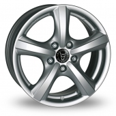 Image for Wolfrace Riga Silver Alloy Wheels