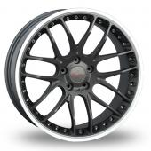 Breyton Race GTP 5x120 Wider Rear Gun Metal Polished Alloy Wheels