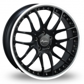 Breyton Race GTP 5x120 Wider Rear Black Polished Alloy Wheels