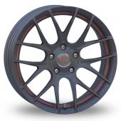 Breyton Race GTS R Gun Metal Red Alloy Wheels