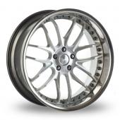 Breyton Race GTR 5x120 Wider Rear Hyper Silver Alloy Wheels