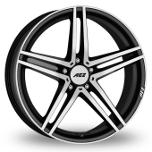 AEZ Portofino Black Polished Alloy Wheels