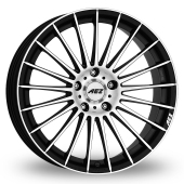 AEZ Valencia Black Polished Alloy Wheels