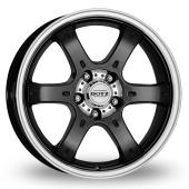 Dotz Crunch Black Polished Alloy Wheels