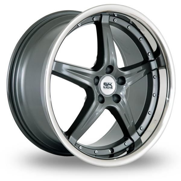 Zoom BK_Racing 993_5x120_Low_Wider_Rear Gun_Metal Alloys