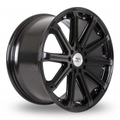 Image for BK_Racing 509 Black Alloy Wheels