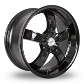 Image for BK_Racing 525 Black Alloy Wheels