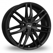 Image for MSW_(by_OZ) 24 Matt_Black Alloy Wheels