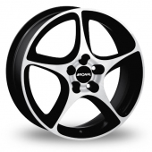 Image for Ronal R53_5x114_Wider_Rear Black_Polished Alloy Wheels