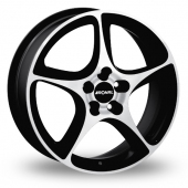Image for Ronal R53_5x120_Wider_Rear Black_Polished Alloy Wheels
