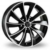 Wolfrace Lugano Black Polished Alloy Wheels