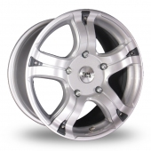 Image for BK_Racing 323 Silver Alloy Wheels