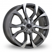 Image for Wolfrace Assassin Gun_Metal_Polished Alloy Wheels