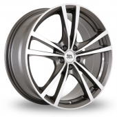 Image for BK_Racing 182 Gun_Metal_Polished Alloy Wheels