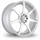 Image for BK_Racing 238 Silver Alloy Wheels