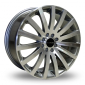 Dare Madisson Gun Metal Polished Alloy Wheels