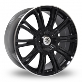 Wolf Design Wolf Design Vermont Sport Black Alloy Wheels