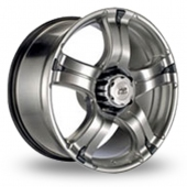 BK Racing 323 Hyper Black Alloy Wheels