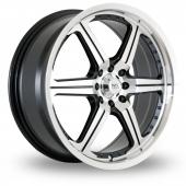 Image for BK_Racing 516 Black_Polished Alloy Wheels