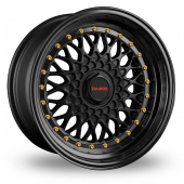 Image for Dare DR-RS Matt_Black_Gold_Rivets Alloy Wheels