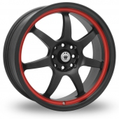 Image for Konig Forward Black_Red Alloy Wheels