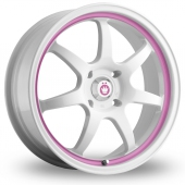 Konig Forward White Pink Alloy Wheels
