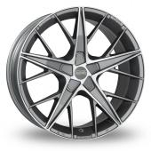 Image for OZ_Racing Quaranta_5x112_Wider_Rear Gun_Metal_Polished Alloy Wheels