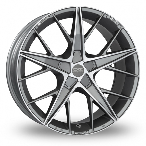 Zoom OZ_Racing Quaranta_5x112_Wider_Rear Gun_Metal_Polished Alloys