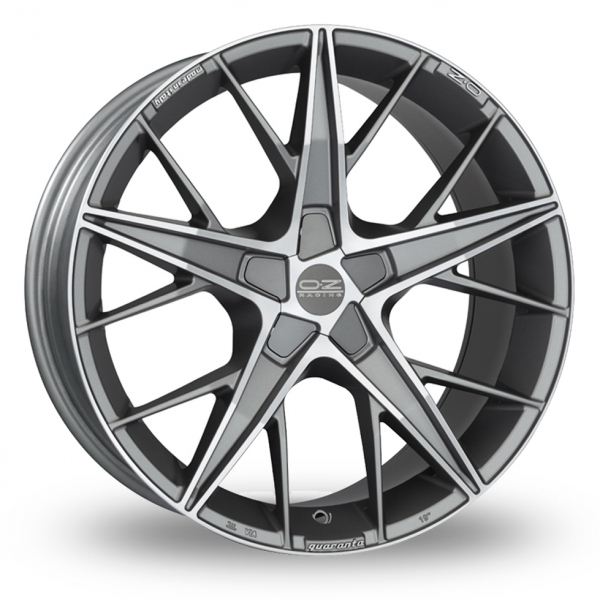Zoom OZ_Racing Quaranta_5x120_Low_Wider_Rear Gun_Metal_Polished Alloys