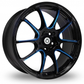 Konig Illusion Black Blue Alloy Wheels