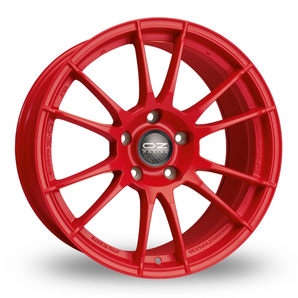 Red alloy wheels