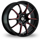 Konig Illusion Black Red Alloy Wheels