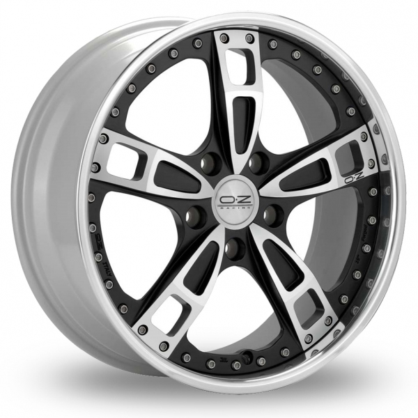 Zoom OZ_Racing Turbo_3_Piece_Rim Black_Polished Alloys