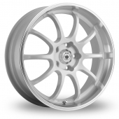 Konig Lightning White Alloy Wheels