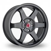 Wolfrace Asia-Tec JDM Gun Metal Alloy Wheels