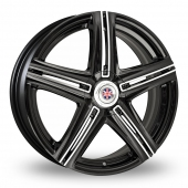 Wolfrace Mini Works Thruxton Black Polished Alloy Wheels