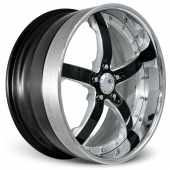 COR Wheels Concord Signature Series Silver Black Alloy Wheels