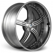 COR Wheels Fossil Signature Series Gun Metal Polished Alloy Wheels