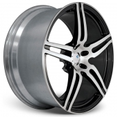COR Wheels F1 Brava Competiton Series Black Polished Alloy Wheels