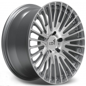 COR Wheels F1 Linear Competiton Series Gun Metal Polished Alloy Wheels