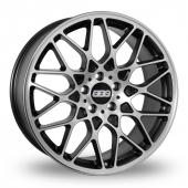 BBS RX-R 5x112 Wider Rear Black Polished Alloy Wheels