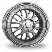Image for Dare DR-LM_5x120_Low_Wider_Rear Silver_Polished Alloy Wheels