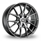 Image for MSW_(by_OZ) 25 Matt_Titanium_Polished Alloy Wheels