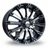 Lenso Intimidator 4 Black Polished Alloy Wheels