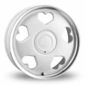 Tansy Love White Polished Alloy Wheels