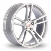 Mille Miglia MM1002 5x120 Wider Rear Silver Polished Alloy Wheels
