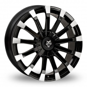 Wolf Design Wolf Design Renaissance Black Polished Alloy Wheels